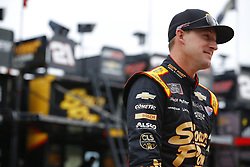 November 16, 2018 - Homestead, Florida, U.S. - Daniel Hemric (21) hangs out in the garage during practice for the Ford 300 at Homestead-Miami Speedway in Homestead, Florida. (Credit Image: © Chris Owens Asp Inc/ASP)