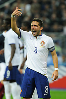Midfielder Joao Moutinho of Portugal reacts during the International friendly game 2014 football match between France and Portugal on October 11, 2014 at Stade de France in Saint Denis, France. Photo Jean Marie Hervio / Regamedia / DPPI