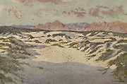 On the Sandhills near Muizenberg, Cape, South Africa From the book ' The Cape peninsula: pen and colour sketches ' described by Réné Juta and painted by William Westhofen. Published by A. & C. Black, London  J.C. Juta, Cape Town in 1910