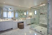 Master Bathroom Vanity with Makeup Sitting Area