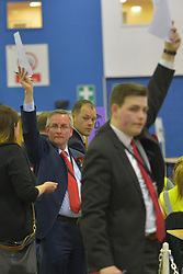SCOTTISH PARLIAMENTARY ELECTION 2016 – Party agents during the counting of votes at Royal Highland Centre, Edinburgh<br />