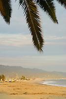 Sunset over the Santa Barbara Harbor, California.