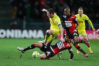 Jordan VERETOUT / Benjamin ANDRE - 21.03.2015 - Rennes / Nantes - 30eme journee de Ligue 1 -<br />Photo : Vincent Michel / Icon Sport
