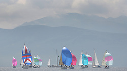The Silvers Marine Scottish Series 2014, organised by the  Clyde Cruising Club,  celebrates it's 40th anniversary.<br /> Arran, Fleet, <br /> Final day racing on Loch Fyne from 23rd-26th May 2014<br /> <br /> Credit : Marc Turner / PFM