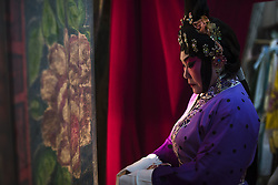 August 28, 2017 - Kuala Lumpur, Malaysia - Backstage scenes of Chinese opera at the Shen Sze She Yar temple, Kajang in Kuala Lumpur, Malaysia on on August 28 2017. The temple celebrate Xian Si Shi Ye anniversary on the seventh day of seven moon(August 28th) (Credit Image: © Chris Jung/NurPhoto via ZUMA Press)