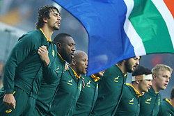 November 25, 2017 - Padova, Italy - South Africa Captain Eben Etzebeth with the teammates during the national anthem during the Rugby test match between Italy and South Africa at Plebiscito Stadium in Padova, Italy on November 25, 2017. (Credit Image: © Matteo Ciambelli/NurPhoto via ZUMA Press)