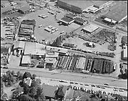 """Ackroyd 17251-4. """"Morton, Eakin, Cain & Corneil. Reimann & McKenney aerials. May 10, 1971"""" (Reimann & McKenney, drum plant, 3000 NW St. Helens Rd.)"""