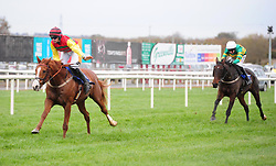 Eight Till Late ridden by Conor Orr win the Toals Bookmakers Handicap Chase during day one of the Down Royal Festival.