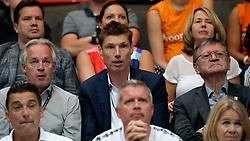 15-09-2019 NED: EC Volleyball 2019 Netherlands - poland, Rotterdam<br /> First round group D / VIP,  Joop Alberda, Bas van de Goor, CEV President Aleksandar Boricic