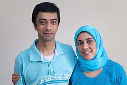 Portrait of husband and wife smiling