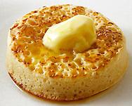 British Food - Buttered Crumpet