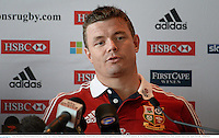 3 June 2013; Brian O'Driscoll, British & Irish Lions, during a press conference following the team announcement ahead of their British & Irish Lions Tour 2013 game against Western Force, where he will captain the side. River Room, Perth Conference & Exhibition Centre, Perth, Australia. Picture credit: Stephen McCarthy / SPORTSFILE