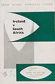 Rugby 1965 - 10/04 Tour Match Ireland Vs South Africa