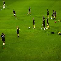 14.09.2020, Schauinsland-Reisen-Arena, Duisburg, GER, DFB Pokal 1. Runde, MSV Duisburg vs Borussia Dortmund, im Bild (von oben) Aufwärmen BVB, <br /> <br /> <br /> Foto © nordphoto / Rauch<br /> <br /> Gemäß den Vorgaben der DFL Deutsche Fußball Liga bzw. des DFB Deutscher Fußball-Bund ist es untersagt, in dem Stadion und/oder vom Spiel angefertigte Fotoaufnahmen in Form von Sequenzbildern und/oder videoähnlichen Fotostrecken zu verwerten bzw. verwerten zu lassen.