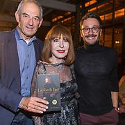 NLD/Amsterdam/20171030 - Boekpresentatie biografie van Liesbeth List, Job Cohen met Liesbeth List en de auteur van het boek Dave Boomkens