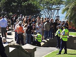 AU_1373688 - Sydney, AUSTRALIA  - Prince Harry arrives at BridgeClimb in Sydney  ready to climb the iconic Sydney Harbour Bridge.<br /> <br /> Pictured: Prince Harry<br /> <br /> BACKGRID Australia 19 OCTOBER 2018 <br /> <br /> Phone: + 61 2 8719 0598<br /> Email:  photos@backgrid.com.au