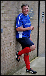 Portrait of Shadow Chancellor Ed Balls  after playing in the Labour Politicians v Reporter's Football match at the Labour Party Autumn Conference. Sunday, 22nd September 2013. Picture by Andrew Parsons / i-Images