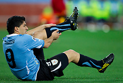 Luis Suarez of Uruguay during the  2010 FIFA World Cup South Africa Quarter Finals football match between Uruguay and Ghana on July 02, 2010 at Soccer City Stadium in Sowetto, suburb of Johannesburg. Uruguay defeated Ghana after penalty shots. (Photo by Vid Ponikvar / Sportida)