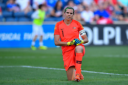 August 2, 2018 - Bridgeview, IL, U.S. - BRIDGEVIEW, IL - AUGUST 02: Australia goalkeeper Lydia Williams (1) takes a knee against Japan during the 2018 Tournament Of Nations at Toyota Park on August 2, 2018 in Bridgeview, Illinois (Photo by Quinn Harris/Icon Sportswire) (Credit Image: © Quinn Harris/Icon SMI via ZUMA Press)