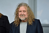 Led Zeppelin's Robert Plant in attendance at the EFL Sky Bet Championship match between Burton Albion and Wolverhampton Wanderers at the Pirelli Stadium, Burton upon Trent, England on 30 September 2017. Photo by Richard Holmes.