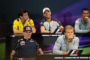 May 25-29, 2016: Monaco Grand Prix. Max Verstappen, Red Bull , Nico Rosberg  (GER), Mercedes ,  FIA Press Conference