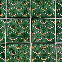 Latin America, Mexico, Dolores Hidalgo. Talvera tiles of Mexico