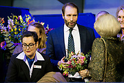 Prinses Beatrix is samen met prinses Margarita Bourbon de Parme in het publiek tijdens het paardenevenement Jumping Amsterdam in de RAI.<br /> <br /> Princess Beatrix with Princess Margarita Bourbon de Parme in the audience during the horse jumping event in Amsterdam RAI.<br /> <br /> Op de foto / On the photo: prinses Beatrix samen met prinses Margarita bourbon de parme en haar man tjalling
