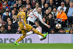 Scott Malone of Fulham passes the ball - Mandatory by-line: Jason Brown/JMP - 19/02/2017 - FOOTBALL - Craven Cottage - Fulham, England - Fulham v Tottenham Hotspur - Emirates FA Cup fifth round