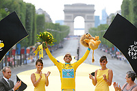 CYCLING - TOUR DE FRANCE 2010 - PARIS (FRA) - 25/07/2010 - PHOTO : VINCENT CURUTCHET / DPPI - <br /> STAGE 20 - LONGJUMEAU > PARIS CHAMPS ELYSEES - ALBERTO CONTADOR (ESP) / ASTANA / RACE WINNER