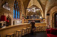 France, Côte-d'Or (21), Paysage culturel des climats de Bourgogne classés Patrimoine Mondial de l'UNESCO, Dijon, le théâtre de Bourgogne à l'interieur de l'ancienne église St-Jean // France, Burgundy, Côte-d'Or, Dijon, Unesco world heritage site, St Jean church, Burgundy theatre