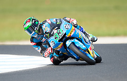 October 21, 2017 - Melbourne, Victoria, Australia - Italian rider Enea Bastianini (#33) of Estrella Galicia 0,0 in action during the third free practice session at the 2017 Australian MotoGP at Phillip Island, Australia. (Credit Image: © Theo Karanikos via ZUMA Wire)