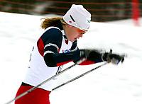 Langrenn, 27. feburar 2003, Junior NM,  Caroline Tangen, Sjåstad/V.Lier ble norsk mester