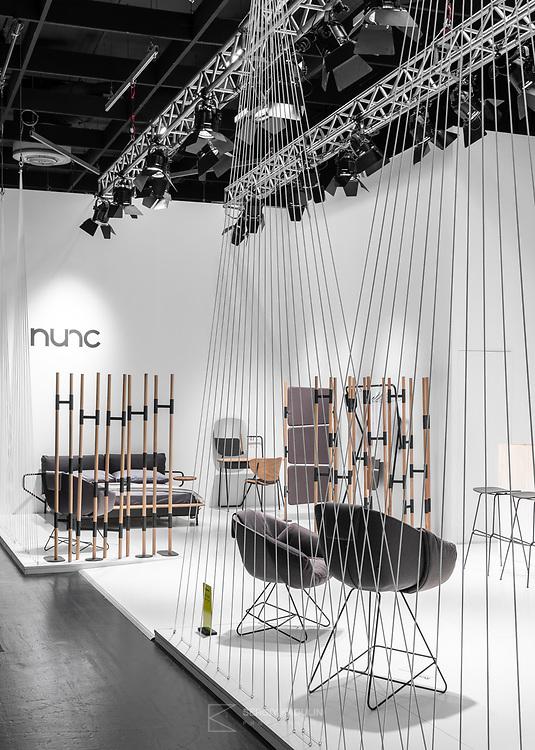 Фотосъемка стенда компании Nunc Design на выставке IMM-2019 в Кёльне.