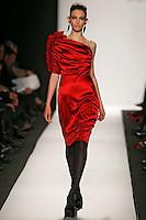 Georgina Stojilkovic wearing the Badgley Mischka Fall 2009 Collection