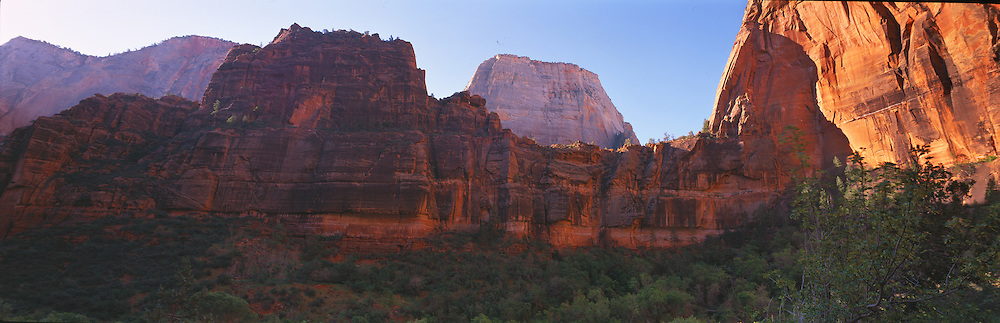 Magnificent redrock formations in Zion Canyon, Zion National Park, Utah.