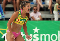 Tjasa Zupan (HIT Holidays Team) at qualifications for 14th National Championship of Slovenia in Beach Volleyball and also 4th tournament of series TUSMOBIL LG presented by Nestea, on July 25, 2008, in Kranj, Slovenija. (Photo by Vid Ponikvar / Sportal Images)/ Sportida)