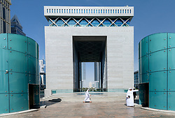 The Gate building in DIFC or Dubai International Financial Center in Dubai United Arab Emirates UAE Mifddle East