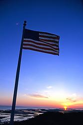 Flag At Sunrise