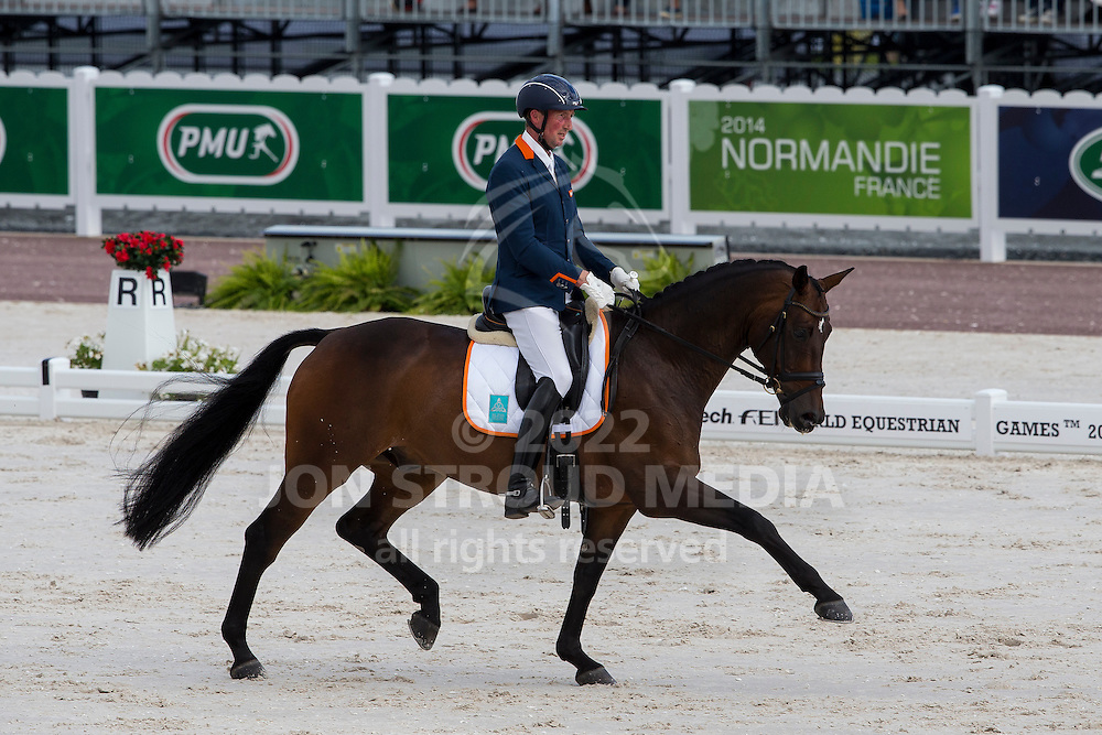 Frank Hosmar, (NED), Alphaville - Freestyle Test Grade IV Para Dressage - Alltech FEI World Equestrian Games™ 2014 - Normandy, France.<br /> © Hippo Foto Team - Leanjo de Koster<br /> 25/06/14