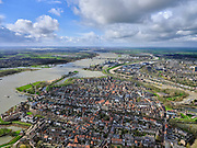 Nederland, Zuid-Holland, Gorinchem,25-02-2020; vestingstad gelegen aan Linge en Boven-Merwede.<br /> Fortified city located at river Upper Merwede (continuation river Rhine).<br /> luchtfoto (toeslag op standard tarieven);<br /> aerial photo (additional fee required)<br /> copyright © 2020 foto/photo Siebe Swart
