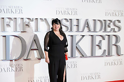 E.L. James attending the UK premiere of 50 Shades Darker, at the Odeon cinema in Leicester Square, London. Picture date: Thursday February 9th, 2017. Photo credit should read: Matt Crossick/ EMPICS Entertainment.