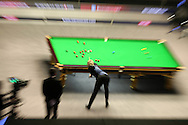 Neil Robertson in action against Ronnie O'Sullivan in the final. .Betvictor Welsh Open snooker 2016, Final day at the Motorpoint Arena in Cardiff, South Wales on Sunday 21st  Feb 2016.  <br /> pic by Andrew Orchard, Andrew Orchard sports photography.