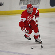 Jordan Juron, Boston University, in action during the UConn Vs Boston University, Women's Ice Hockey game at Mark Edward Freitas Ice Forum, Storrs, Connecticut, USA. 5th December 2015. Photo Tim Clayton