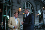 Andrew Neil and Geoff Hoon. The Business Summer party hosted by Andrew Neil. Italian Hotel, Ritz Hotel. 12 July 2005. ONE TIME USE ONLY - DO NOT ARCHIVE  © Copyright Photograph by Dafydd Jones 66 Stockwell Park Rd. London SW9 0DA Tel 020 7733 0108 www.dafjones.com