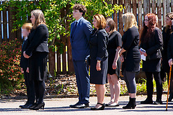 © Licensed to London News Pictures. 12/06/2015. Fort William, UK. (Note to editors: Charles' son Donald's face is pixilated) The funeral of ex-Liberal Democrat leader Charles Kennedy takes place at St John's Church in Caol, near his Fort William home in Scotland on Friday, June 12, 2015. Mr Kennedy died suddenly on June 1, 2015 at the age of 55 after suffering a major haemorrhage as a result of a long battle with alcoholism. Photo credit: Tolga Akmen/LNP