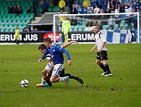 Fotball , 28. april 2012, Tippeligaen Eliteserien , Sogndal - Molde<br /> <br /> Foto: Christian Blom , Digitalsport (L) Henrik Furebotn, (L) Taijo Teniste Sogndal. Mattias Mostrøm