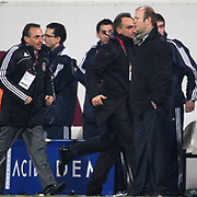 Besiktas's coach Carlos Carvalhal (2ndR) celebrate goal during their Turkish superleague soccer match Besiktas between Gaziantepspor at BJK Inonu Stadium in Istanbul Turkey on Tuesday, 05 January 2012. Photo by TURKPIX