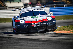 March 14, 2019 - Sebring, Etats Unis - 92 PORSCHE GT TEAM (DEU) PORSCHE 911 RSR GTE PRO MICHAEL CHRISTENSEN (DNK) KEVIN ESTRE  (Credit Image: © Panoramic via ZUMA Press)
