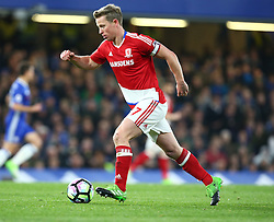 May 8, 2017 - Chelsea, Greater London, United Kingdom - Grant Leadbitter of Middlesbrough.during Premier League match between Chelsea and Middlesbrough at Stamford Bridge, London, England on 08 May 2017. (Credit Image: © Kieran Galvin/NurPhoto via ZUMA Press)