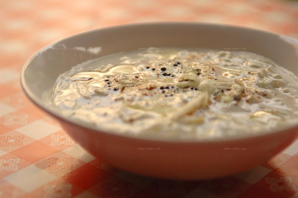 Kheera ka Raita - Yogurt and cucumbers (Recipe availale upon request)